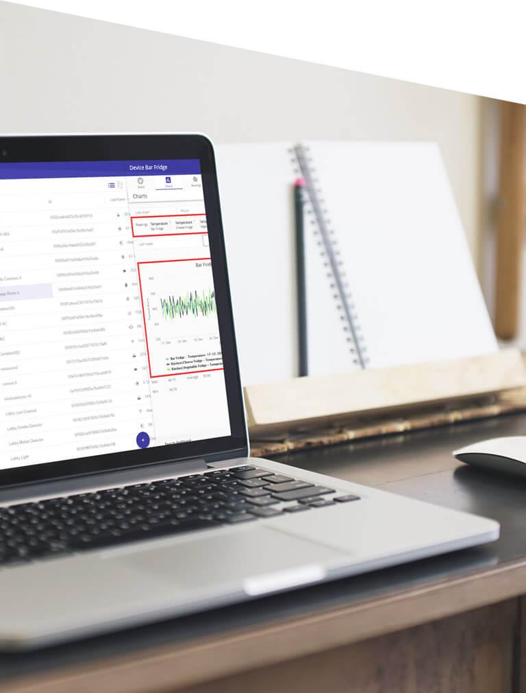 The Axonize Platform on a laptop