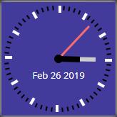 Clock widget 2