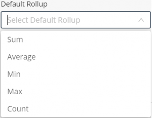 product - default rollup