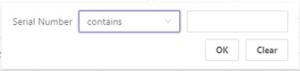 select report filter prop
