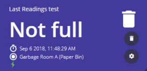 Last Readings widget