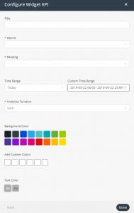KPI widget settings