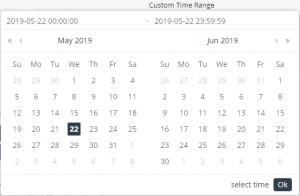 Custom time range - in widgets