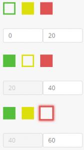 Gauge widget - boxes