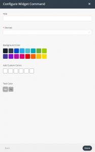 Command widget settings