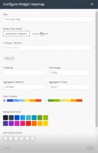 Heatmap widget settings