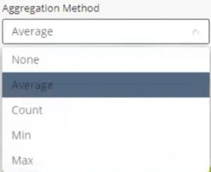 aggregation methods - widgets
