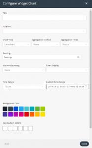 Chart widget settings
