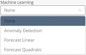 Chart widget - machine learning